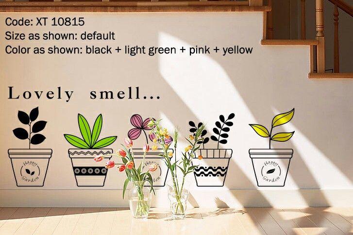 Flower pots decal