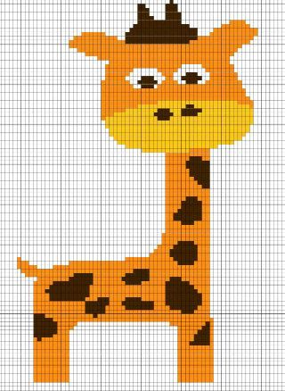 Giraffe Crochet Chart/Graph Pattern - Crochet / knit / stitch charts and graphs