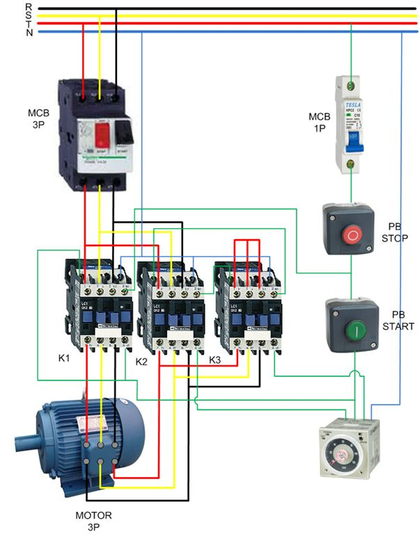 Basic Contactor Wiring Diagram : Best ideas about electrical circuit diagram on
