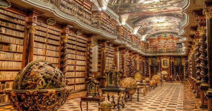 KLEMENTINUM  -  ΠΡΑΓΑ  η πιο όμορφη βιβλιοθήκη   του κόσμου