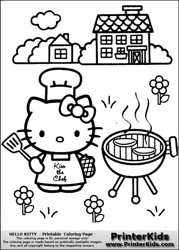 52 Best Hello Kitty Coloring Pages Images On Pinterest