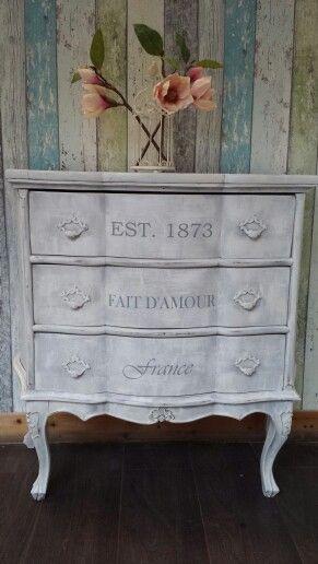 Antike Vintage Kommode Im Angesagten Shabby Chic   Cottage Stil! 279 U20ac