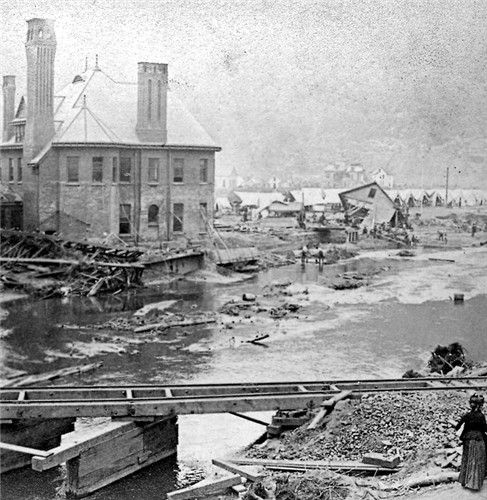 The Johnstown flood 1889.