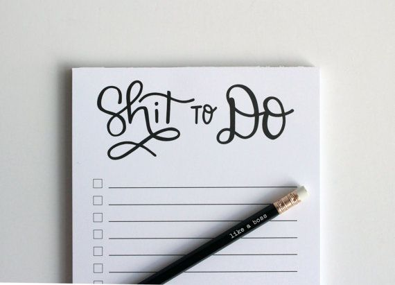 Shit To Do Notepad  To Do Notepads by DarlingSavageDesigns on Etsy