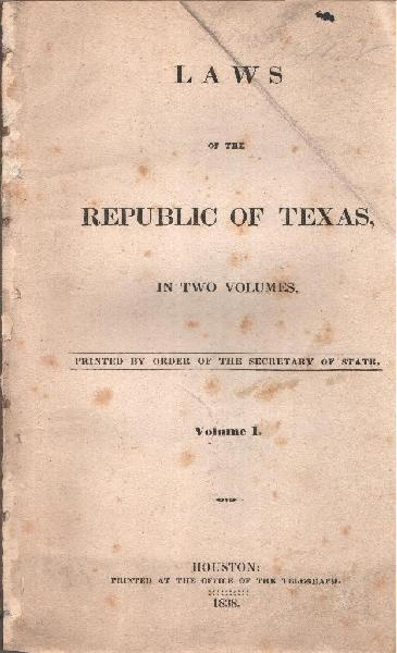 The Constitution of the Republic of Texas (1836)