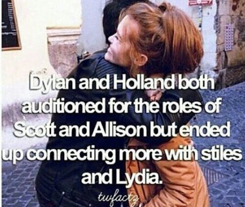 I'm glad I cant imagine anyone other than them playing Stiles and Lydia