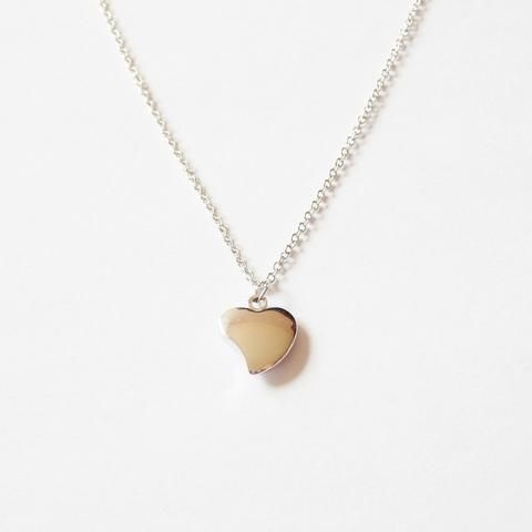 heart necklace with delicate chain