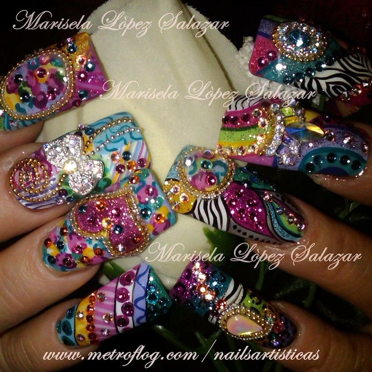 164 best Nail Obsessed (EXOTIC) images on Pinterest | Gel nails ...