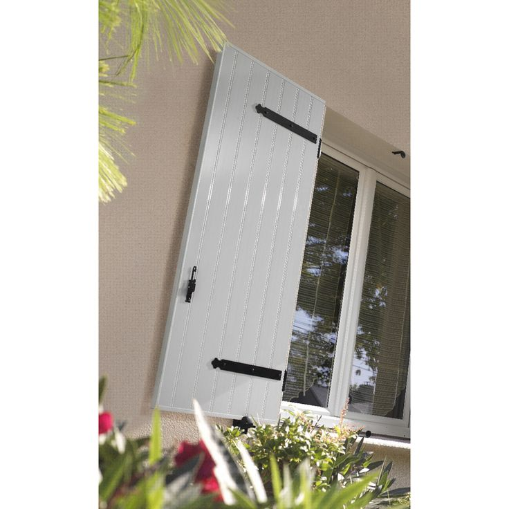 Volet PVC plateau nu - Fenêtres