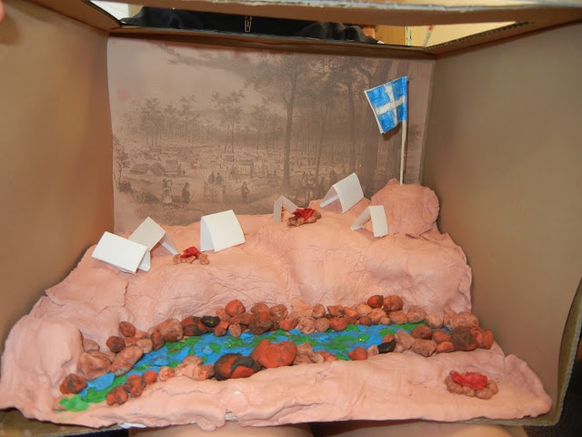 Australian Colonial days - Gold mining - Student diorama