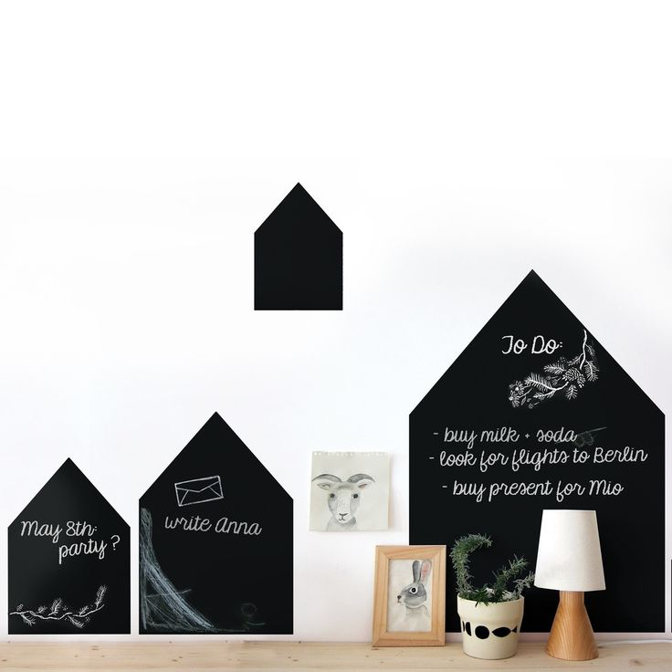 Popisovateľné nálepky na stenu CHALK HOUSES