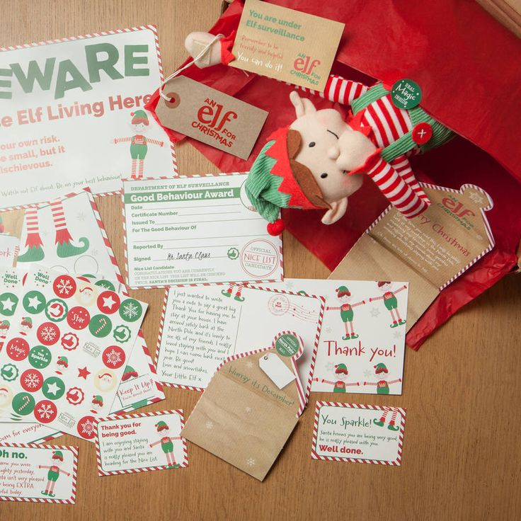 Christmas Elf Toy And Magical Reward Kit