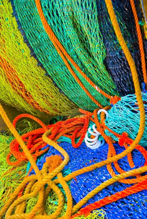Colorful Trawler's nets