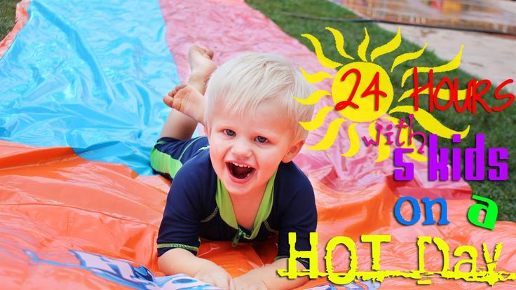 24 Hours With 5 Kids on a Hot Day | Family Fun Pack ...
