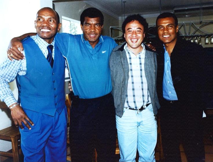 Cuatro grandes del fútbol peruano. Barbadillo, Uribe, MCHS y Cubillas.