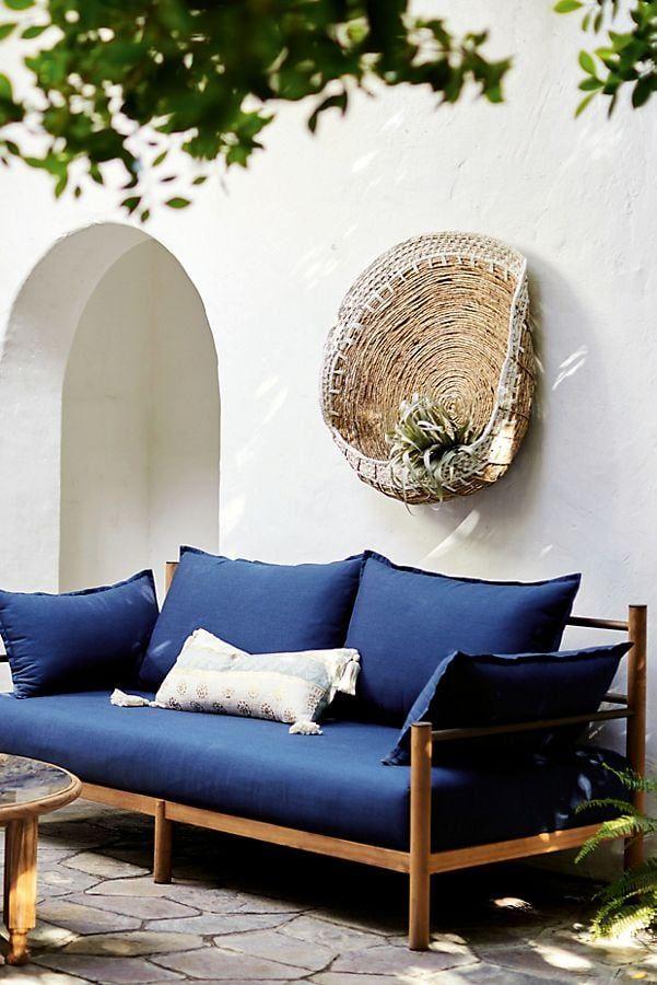 Brisbane Hanging Basket Outdoor Sofa Wicker Patio Furniture