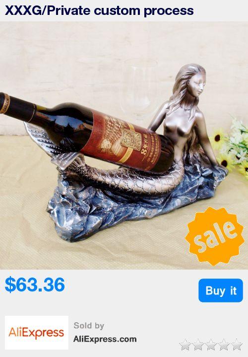 XXXG/Private custom process characters wine rack, wine rack Home Furnishing Mediterranean style Mermaid resin ornaments Artware * Pub Date: 19:05 Oct 18 2017