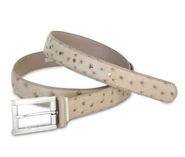 the Mac genuine ostrich leather belt from Via La Moda #vialamoda