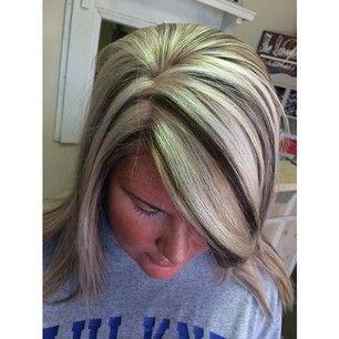 Blonde w brown highlights