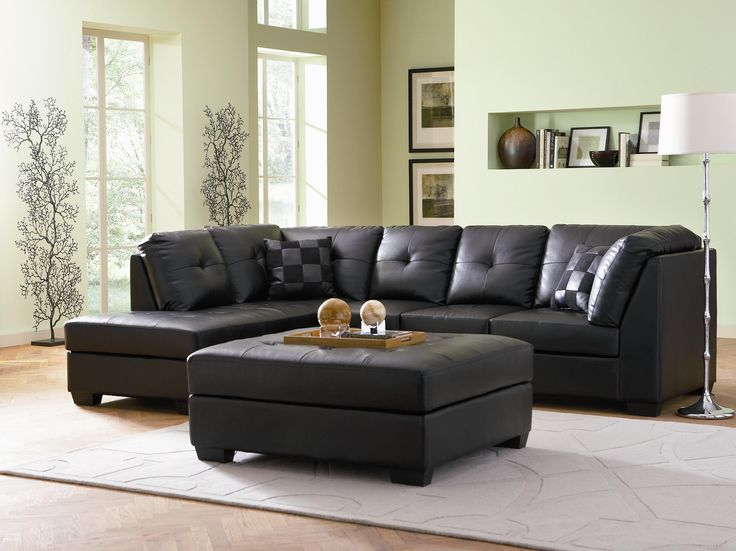 darie leather sectional sofa with leftside chaise
