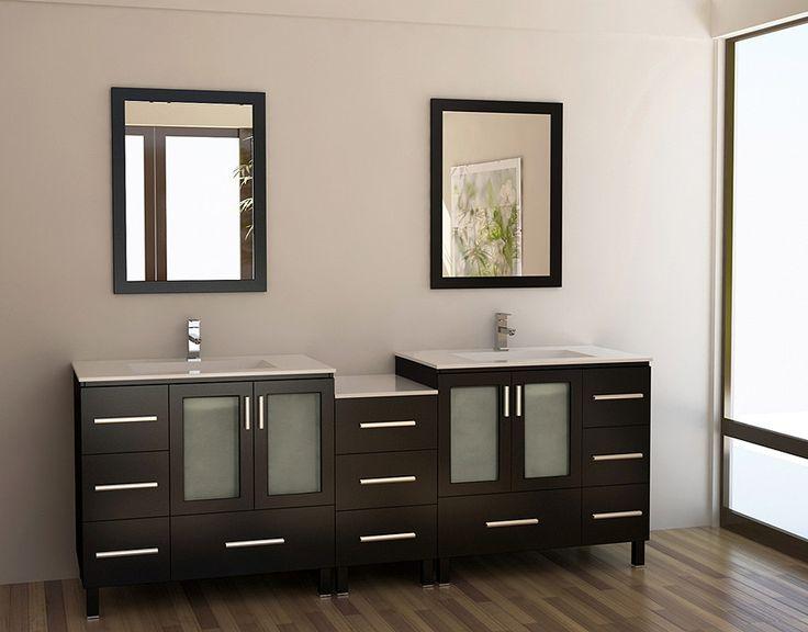 """Galatian 88"""" Traditional Double Sink Bathroom Vanity"""