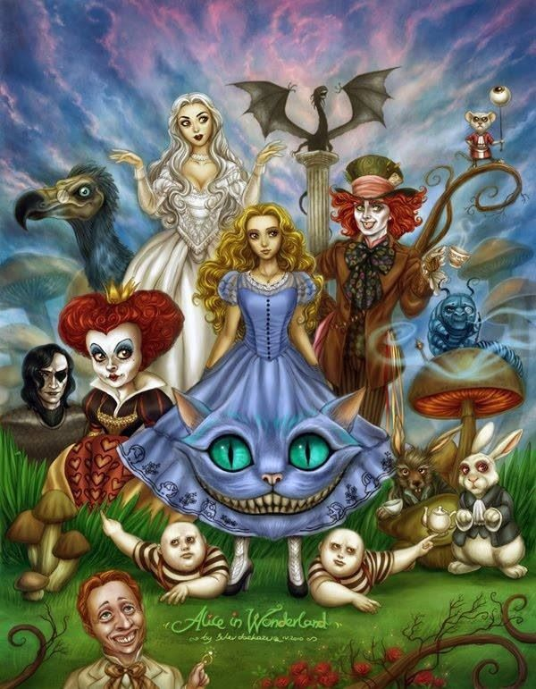 21 best Tim Burton's Alice In Wonderland Artwork images on