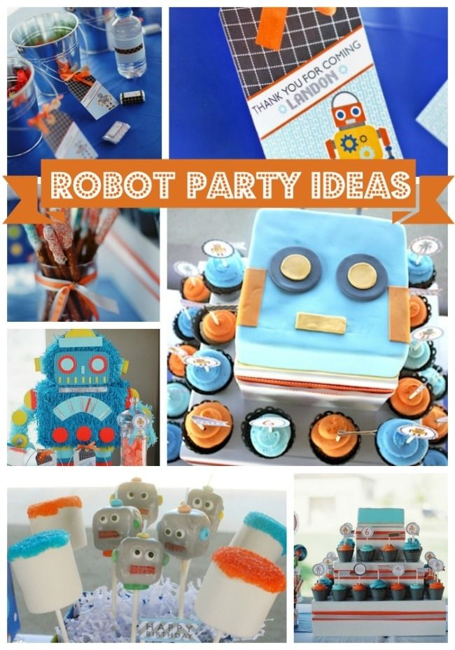 Robot Birthday Party Ideas For Boys