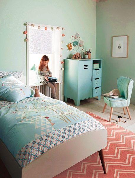 Popular Gemusterter Kinderzimmer Teppich ROSA