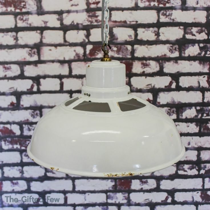 1940s White Vented Benjamin Enamel Pendant Light | thegiftedfew.com | Vintage Industrial Lighting | Original | Warehouse Home Design Magazine