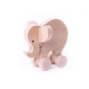 Schiebetier Elefant aus massivem Kirschholz