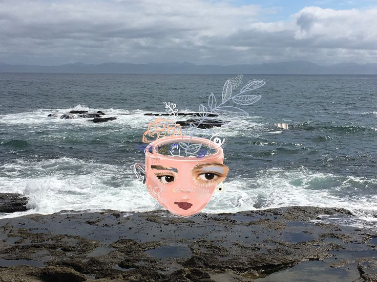 Mixed media piece , to honour a friend that embraces her vulnerability and shares what she learned from it to the world. #empowered#inspiring #ocean#britishcolumbia#views  Photo : Botanical beach, one of my absolute favorite.    H O M E    #Mixedmedia##visualarts#anaeart#photography#contrasts#vulnerability #feminism#womenpower#shareyourstory