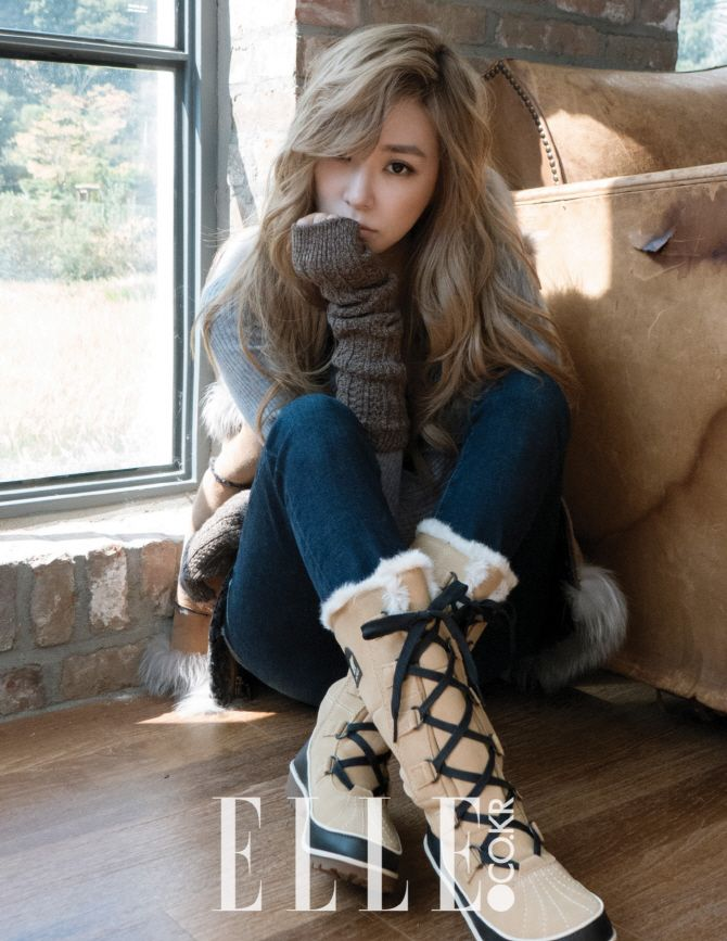 Girls' Generation's Tiffany featured in November issue of Elle Korea collaborating with SOREL