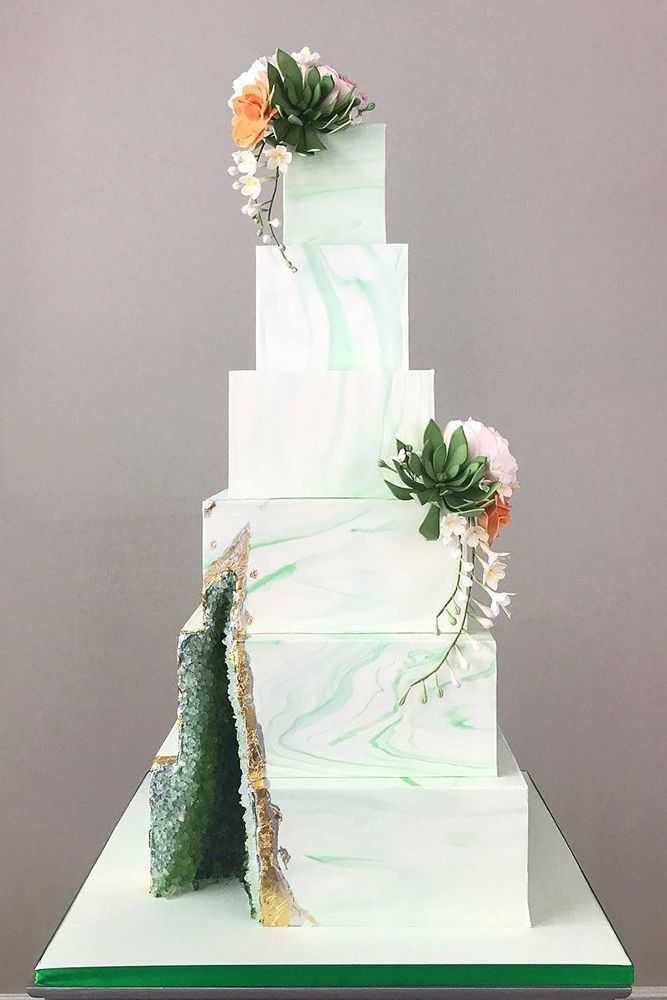 Be in trend! Geode Wedding Cakes For Stylish Event ❤ See more: http://www.weddingforward.com/geode-wedding-cakes/ #weddingforward #bride #bridal #wedding