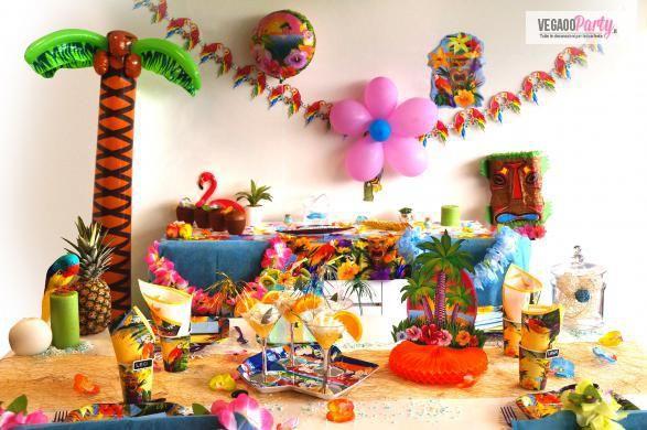 Decorazione per una festa tropicale