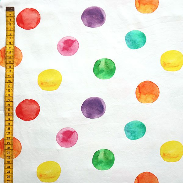 Watercolor dots, design by Outi Santaniemi