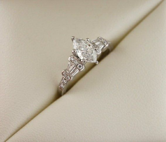 Tiffany Style Marquise Ring