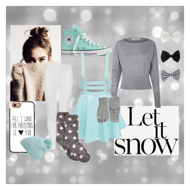 """""""Let it Snow"""" by ember-echo ❤ liked on Polyvore featuring Converse, M&S Collection, Charter Club, Casetify, Accessorize, Calypso St. Barth and Capelli New York"""
