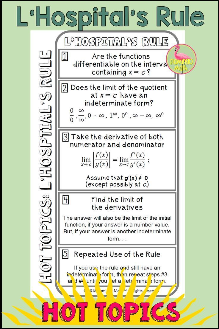 L Hospital S Rule In 2020 Ap Calculus Calculus Calculus Teacher