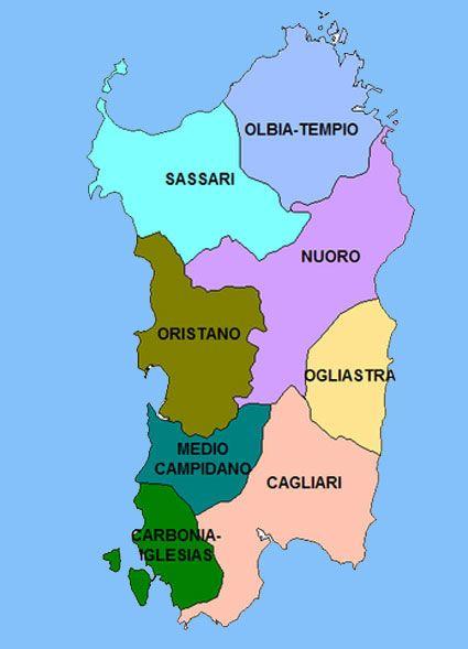 Risultati Immagini Per Cartina Politica Della Sardegna Capoluoghi