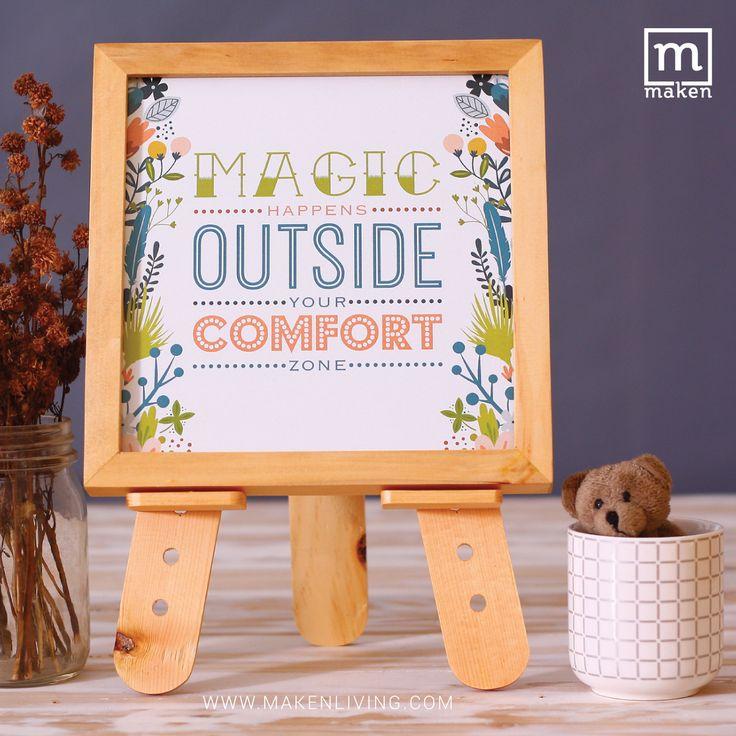 OKT15-02 Magic Happens Outside Your Comfort Zone-Keluarlah dari zona nyamanmu. Berpetualanglah. Karena banyak keajaiban yang akan terjadi di luar zona nyamanmu. Yuk miliki desain ini sekarang. :)