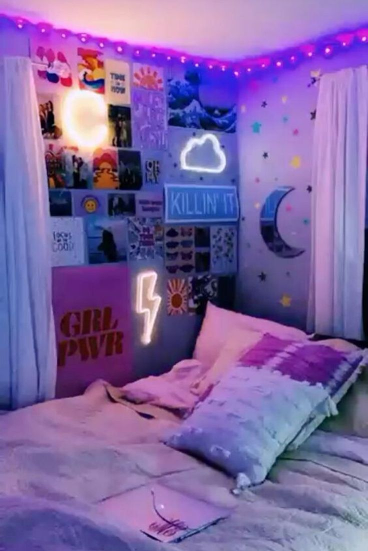 Diy Bedroom Ideas Decorating Organization And Wall Art Diy Ideas In 2020 Neon Room Neon Bedroom Girl Bedroom Decor