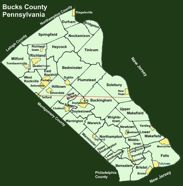 Bucks County Townships. Lived in Doylestown (beautiful place) and now I live in Perkasie