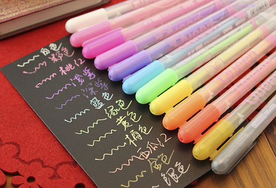 Set of 12 Color Korean Cute Stationery Gel by HappyJewelrySupplies