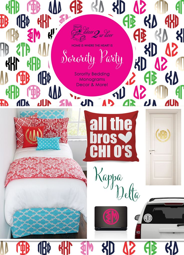 Preppy Sorority Room Ideas And Custom Monograms Great Sorority Gift Ideas  Check It Out! Part 19