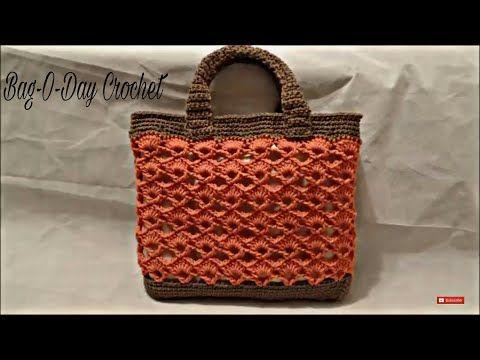 How To Crochet Handbag Purse Bag Running Copper Bag O Day