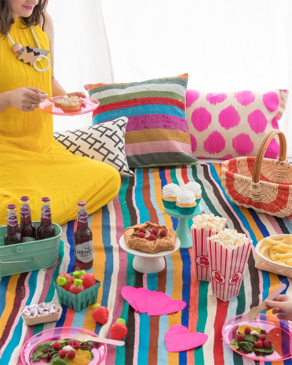 Colorful Indoor Picnic Oh Happy Day