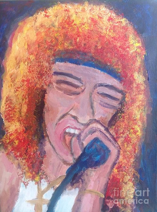 Lou Gramm Juke Box Hero Painting