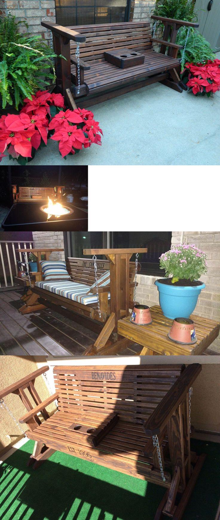 Swings 79700: Handmade Heavy Duty Cedar Porch Glider Patio Glider Bench Glider Patio Furniture -> BUY IT NOW ONLY: $679.99 on eBay!
