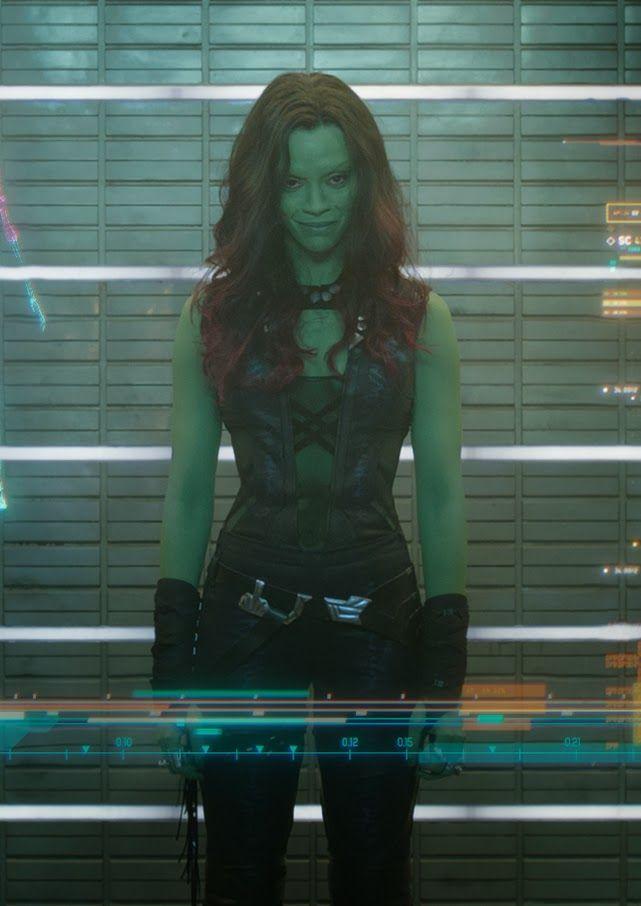 Zoe Saldana as Gamora | 上 ↑ 下 ↓ は、「ドクター・フー」のエイミー ...