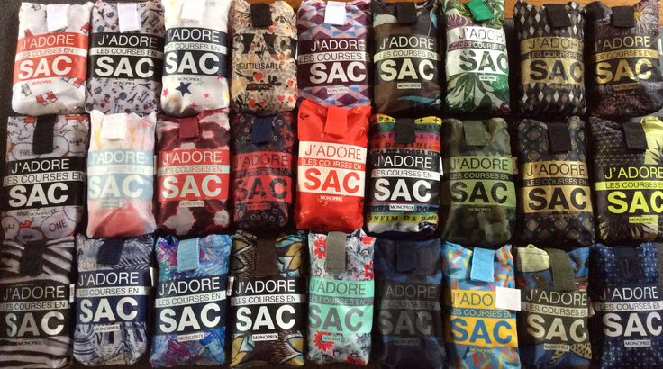 La Collection - J'adore les courses en sac Monoprix, sac réutilisable Shopping bag Monoprix monop